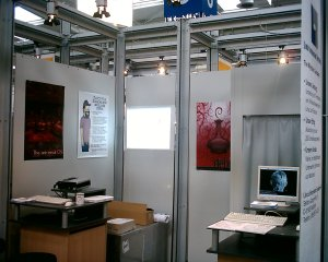 our booth from the one side